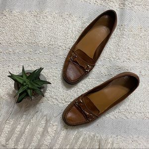 Etienne Aigner brown leather loafers